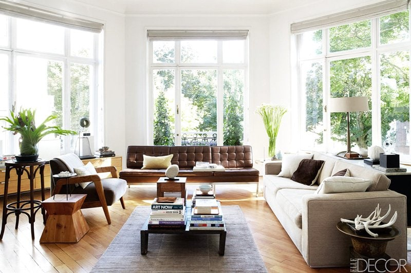 Eclectic living room in Brussels via @thouswellblog