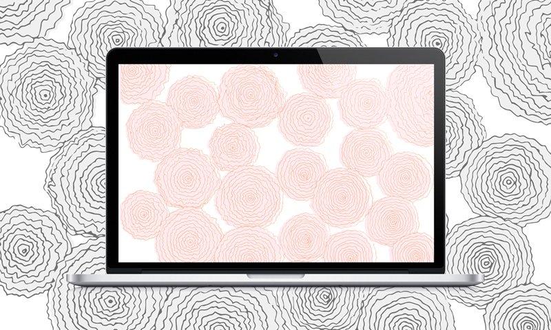 Swell Downloads | Pink Floral Desktop Wallpaper