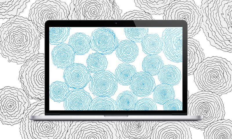 Swell Downloads | Blue Floral Desktop Wallpaper