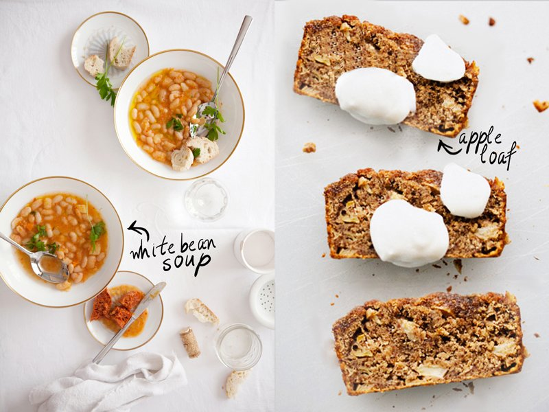 White Bean Soup & Apple Loaf | Fall Meals - Thou Swell