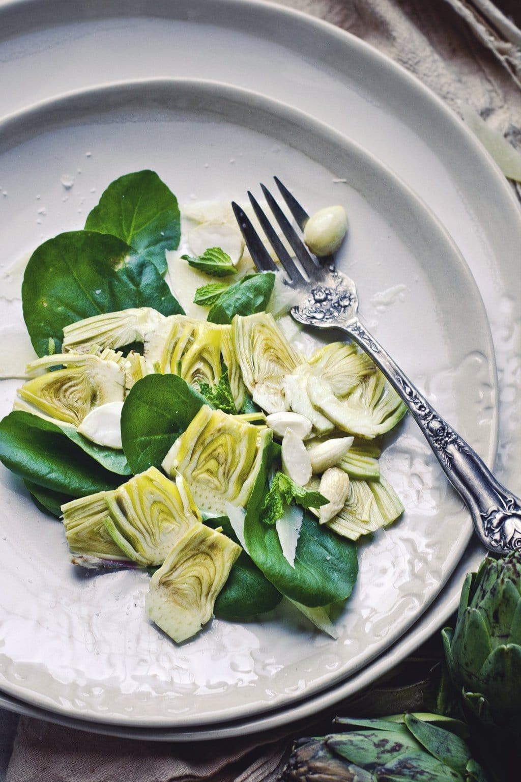 20 Best Recipes of 2014 | Raw Artichoke Salad via Thou Swell https://thouswell.com/