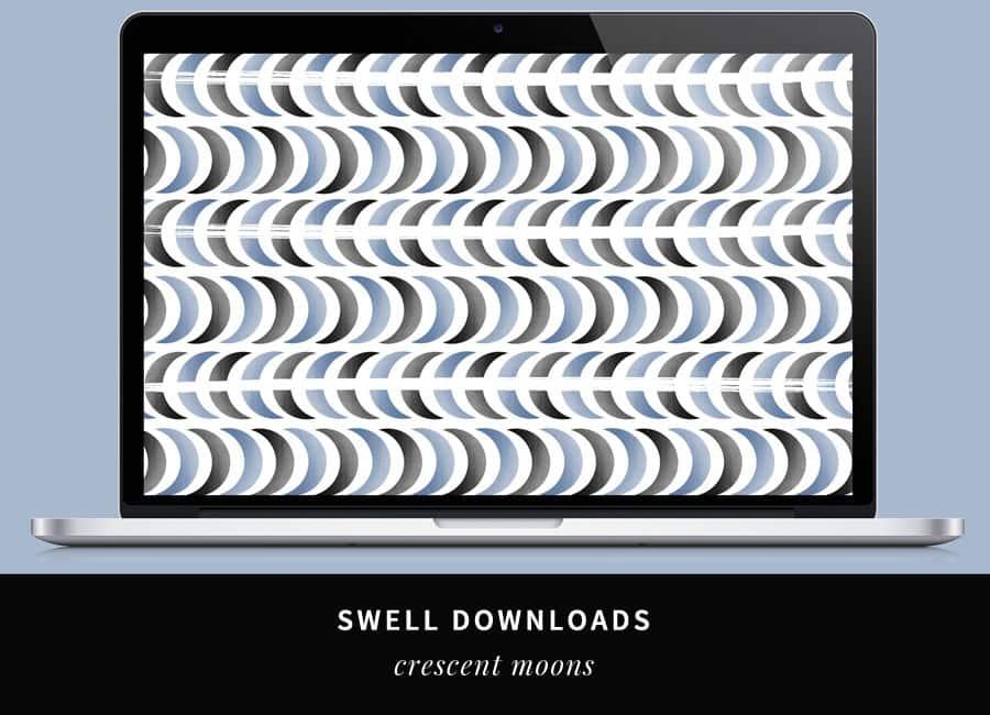 Swell Downloads: Crescent Moon Desktop Wallpaper