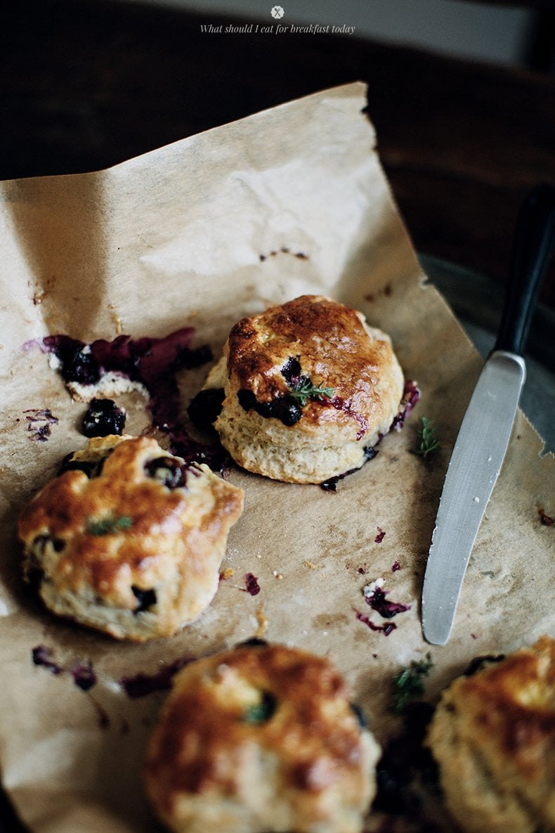 20 Best Recipes of 2014 | Blueberry Thyme Scones via Thou Swell http://thouswell.com/