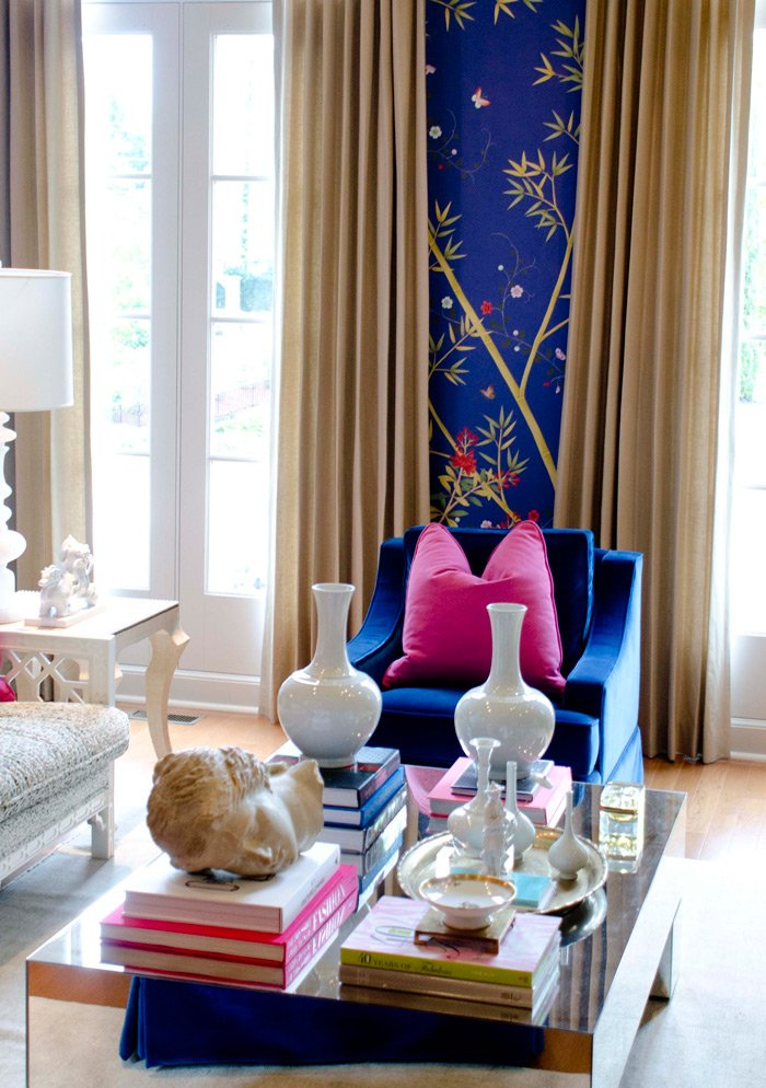 A bold study designed by Parker Kennedy Living for the ASO Showhouse 2015. #ASOShowHouse