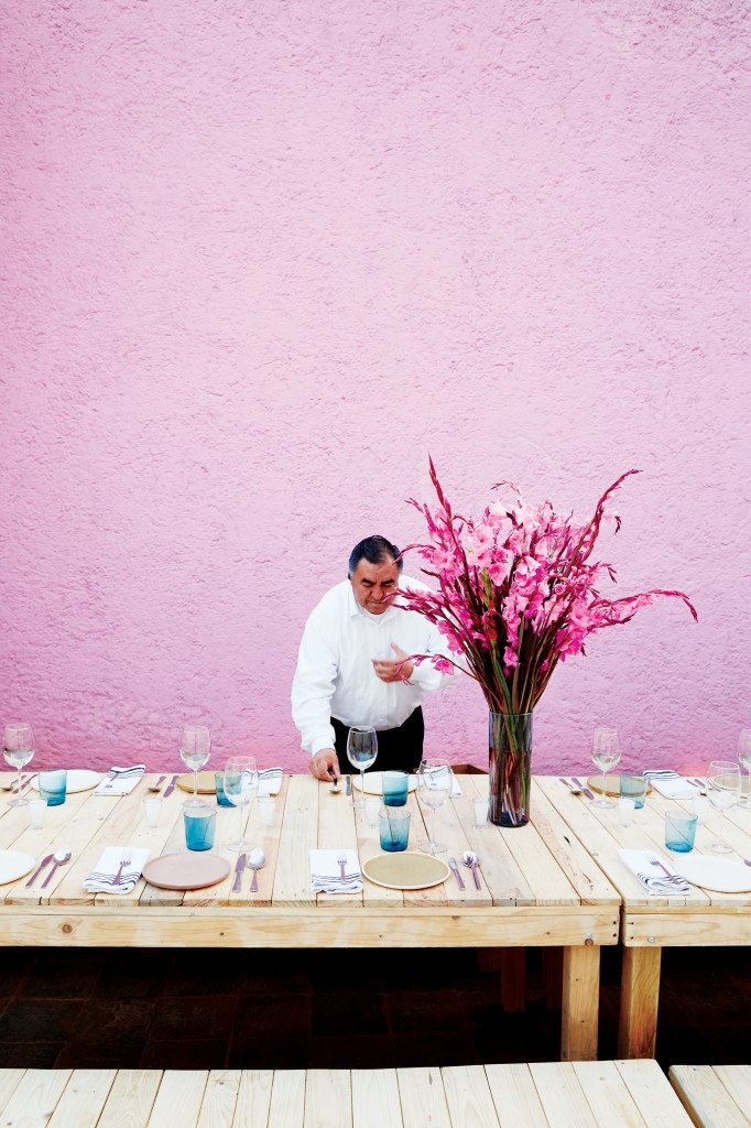 An authentic Mexico City fiesta, full of bold color-blocking and simple elegance.