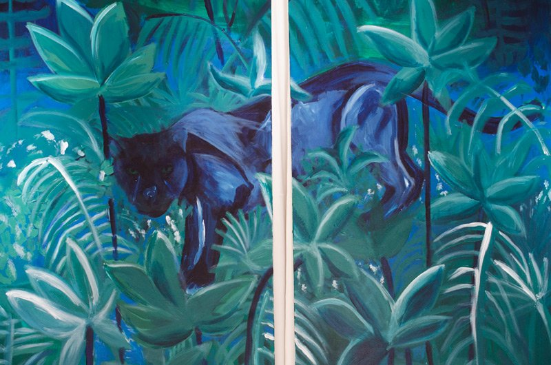 Jaguar jungle paintings by Kevin O'Gara