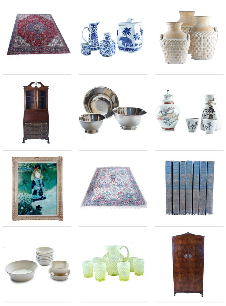 Vintage treasures from Everything But the House's first Atlanta-area sale on Thou Swell.