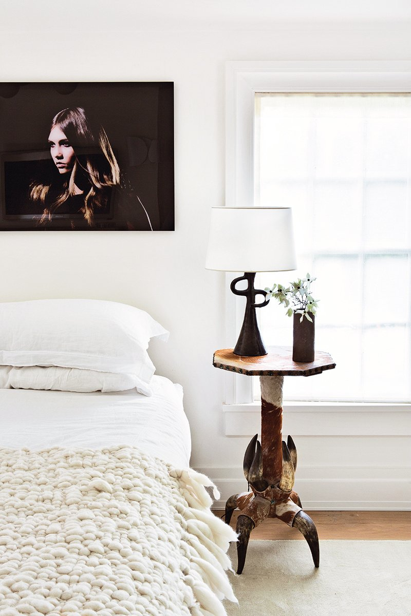 White bedroom in a modern farmhouse renovation in upstate New York via @thouswellblog