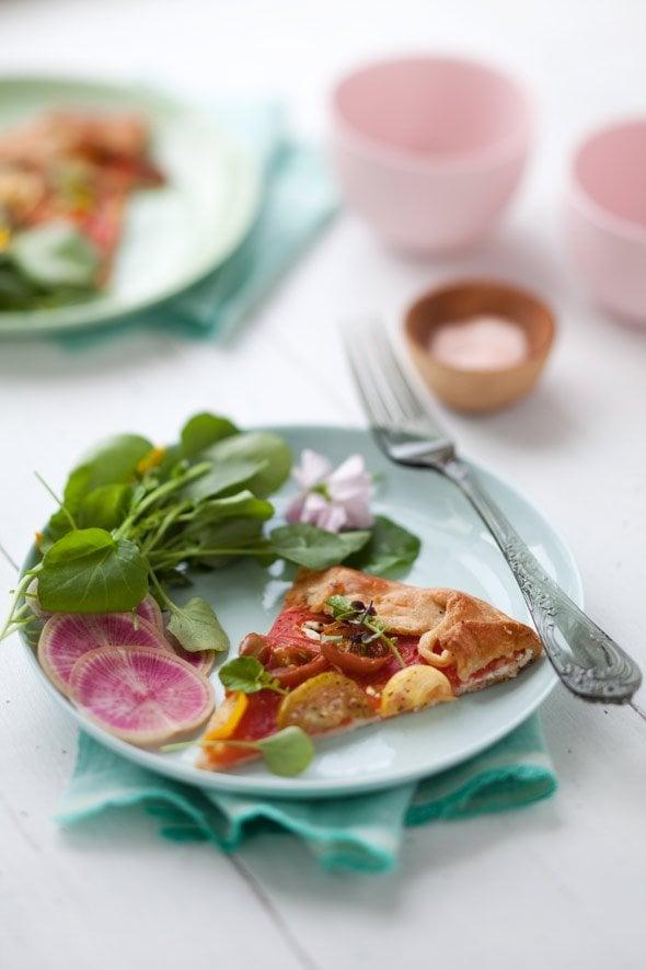 Heirloom Tomato & Quinoa pizza via Cannelle & Vanille