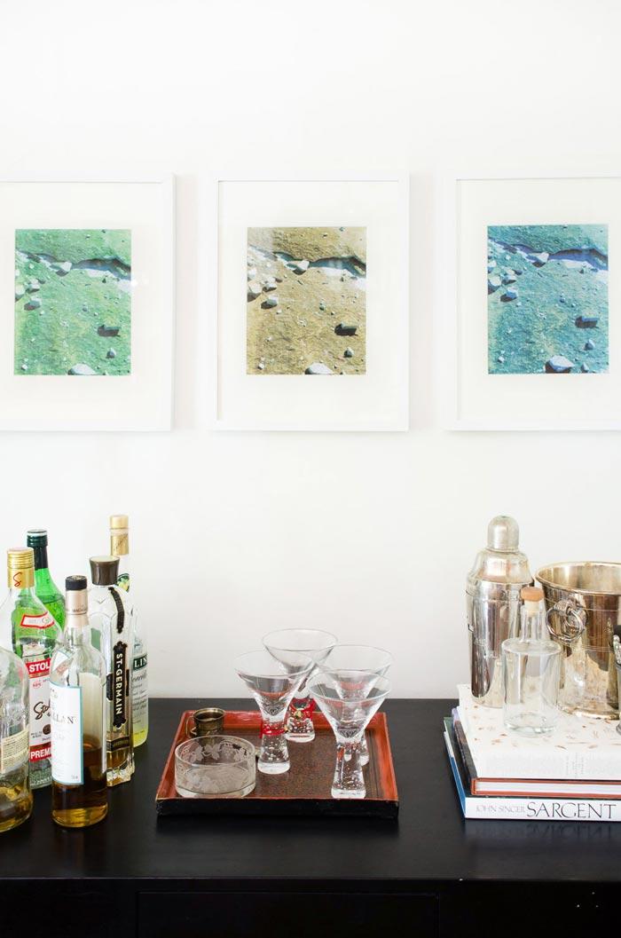 Warhol-inspired gallery wall idea via @thouswellblog
