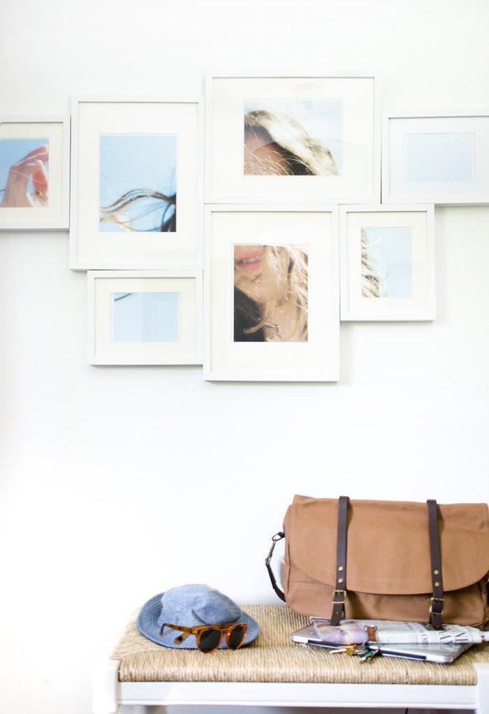 Large image gallery wall idea via @thouswellblog