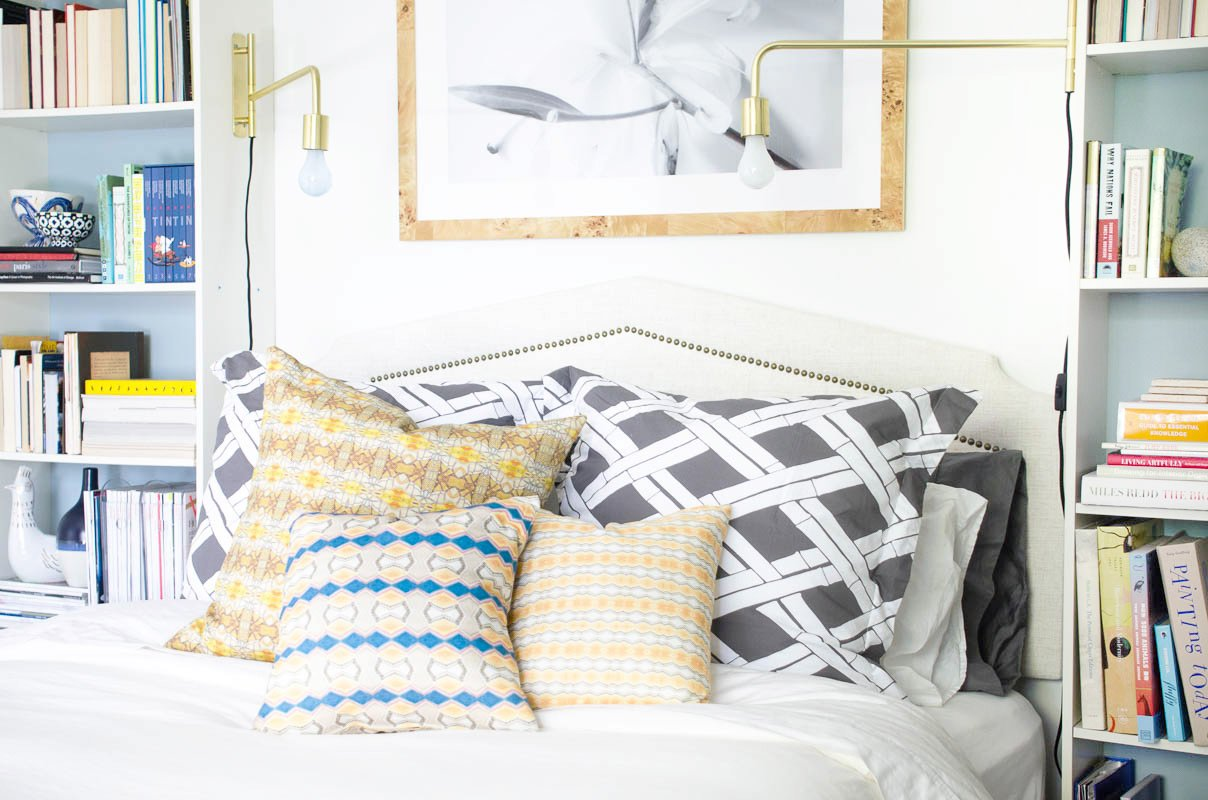 A bedroom makeover before and after