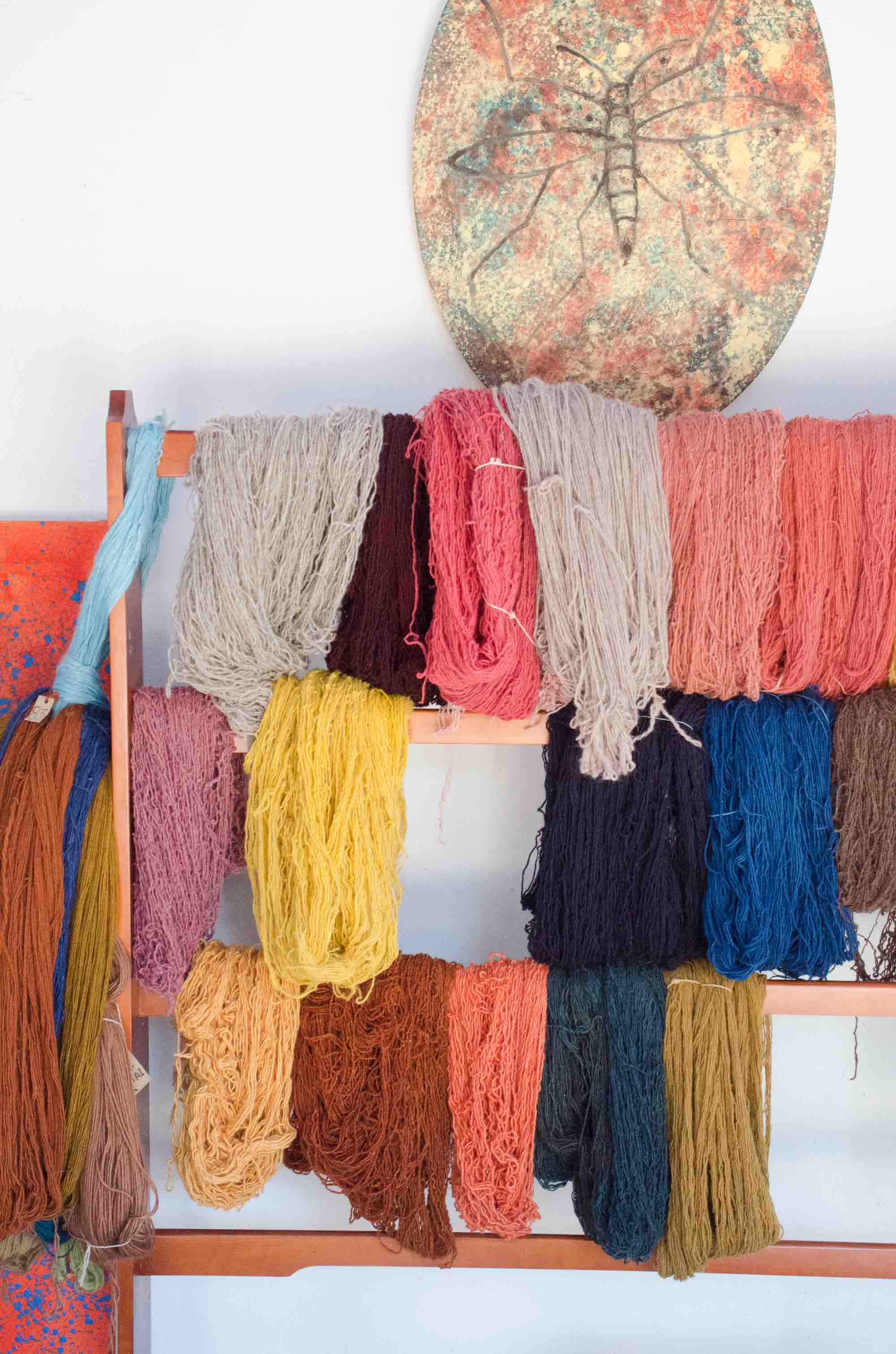 Naturally dyed yarn in Oaxaca, Mexico