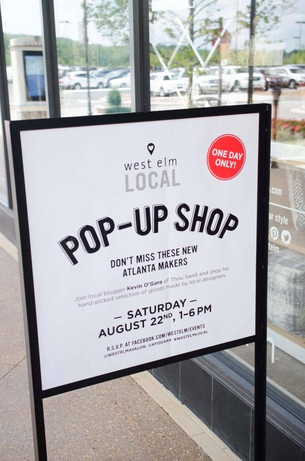 West Elm Local Pop-Up Shop