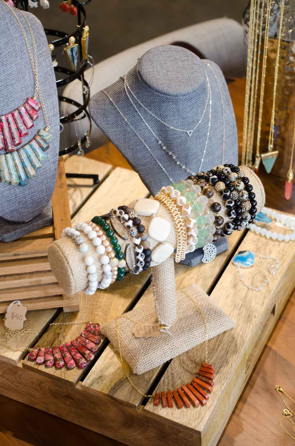 Green End Designs jewelry at West Elm Local Pop-Up