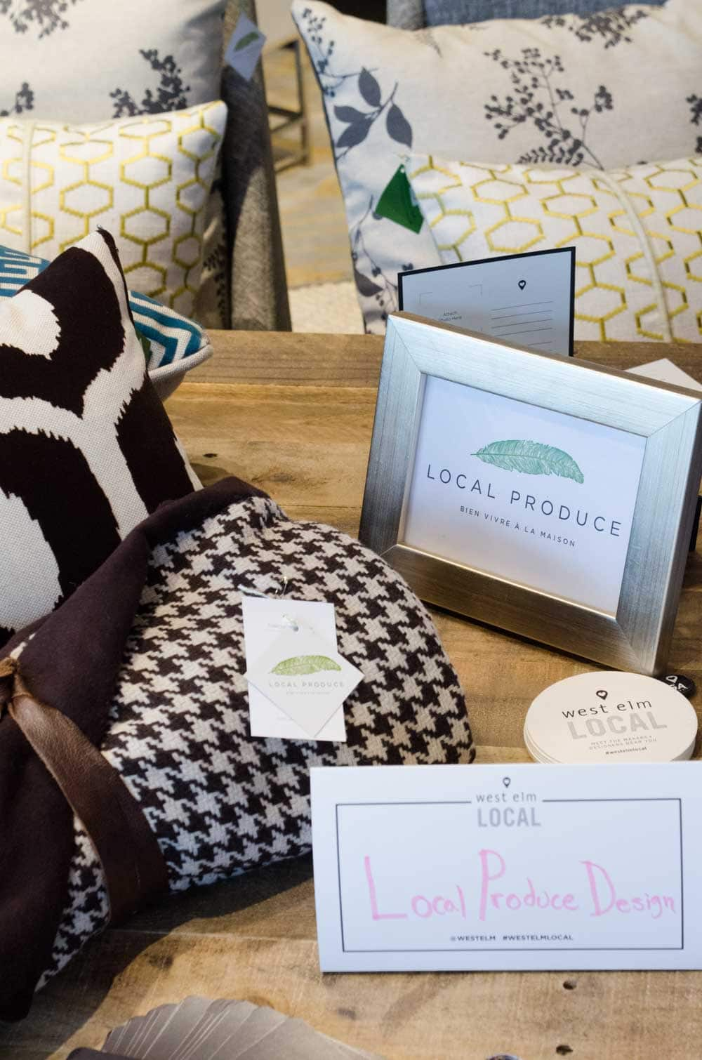 Local Produce Design at West Elm Local Pop-Up