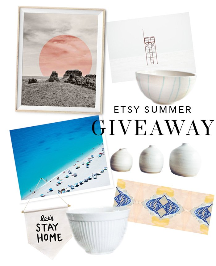 Enter Thou Swell's Etsy giveaway for a chance to win these handmade home products!