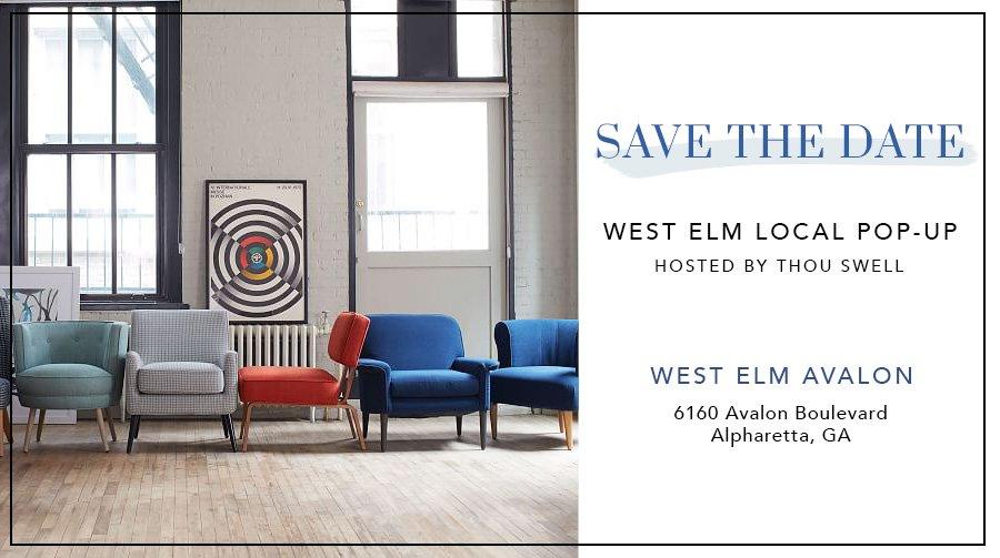 Atlanta blogger Kevin O'Gara is hosting a west elm Local pop-up shop!