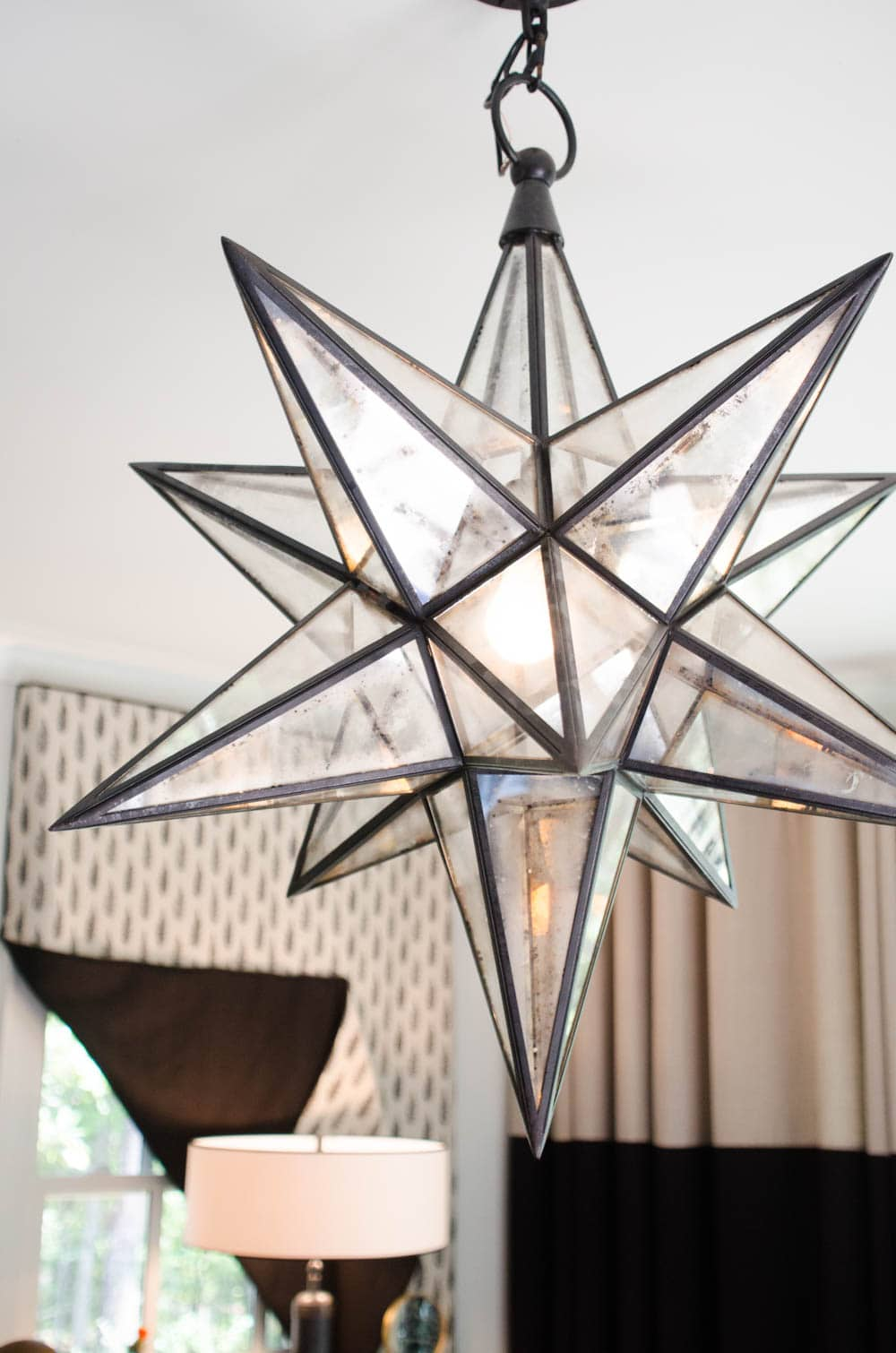 Moroccan star pendant light
