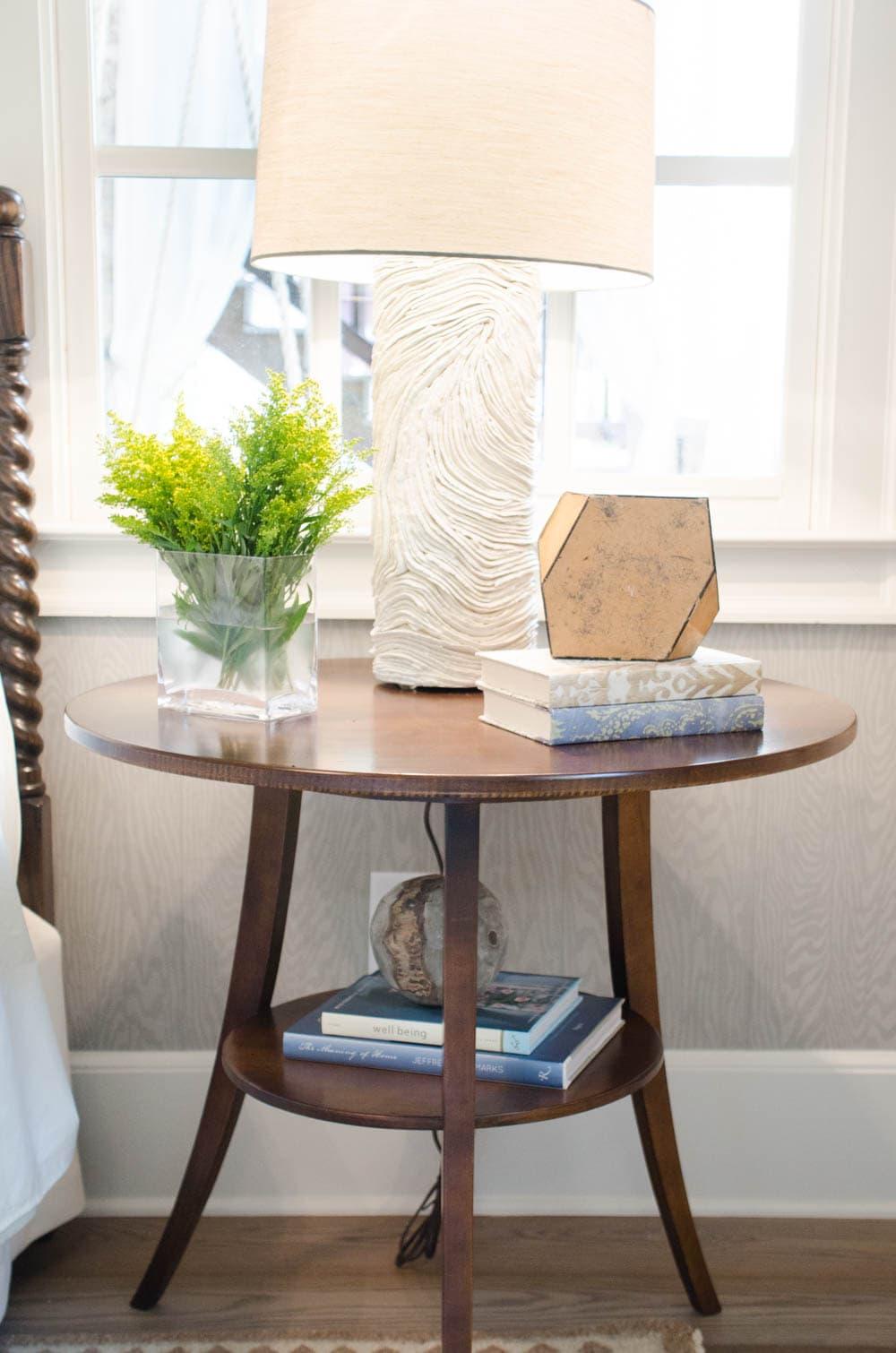 Serene bedside table