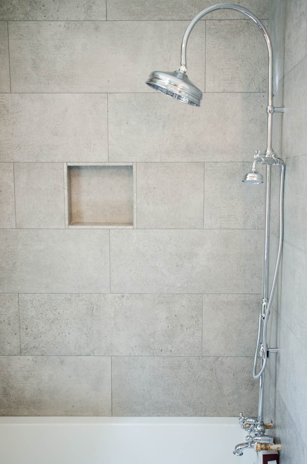 Simple elegant shower tiles