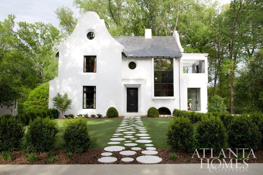Lee Kleinhelter's modern home exterior in Atlanta.