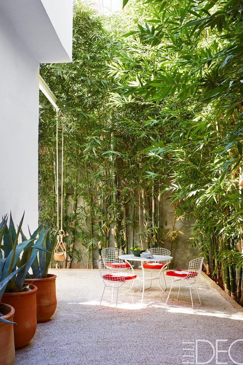 Marrakech home exterior and patio.