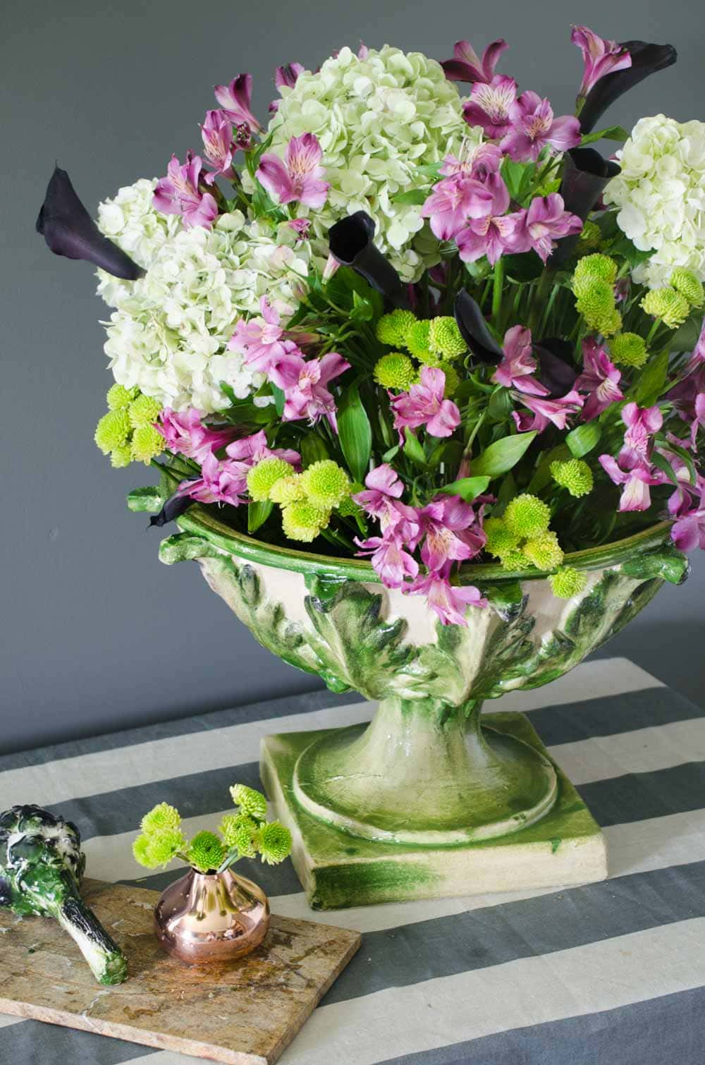 Create a fall floral centerpiece with Fortunata Inc. artichoke footed bowl