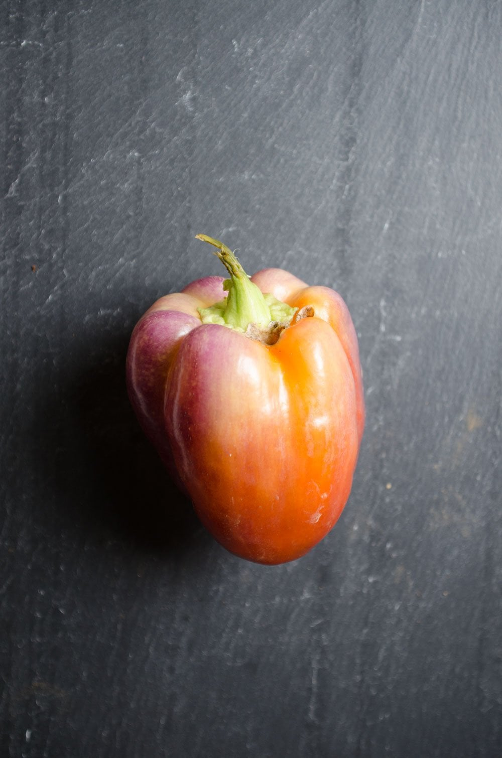 Red and purple bell pepper