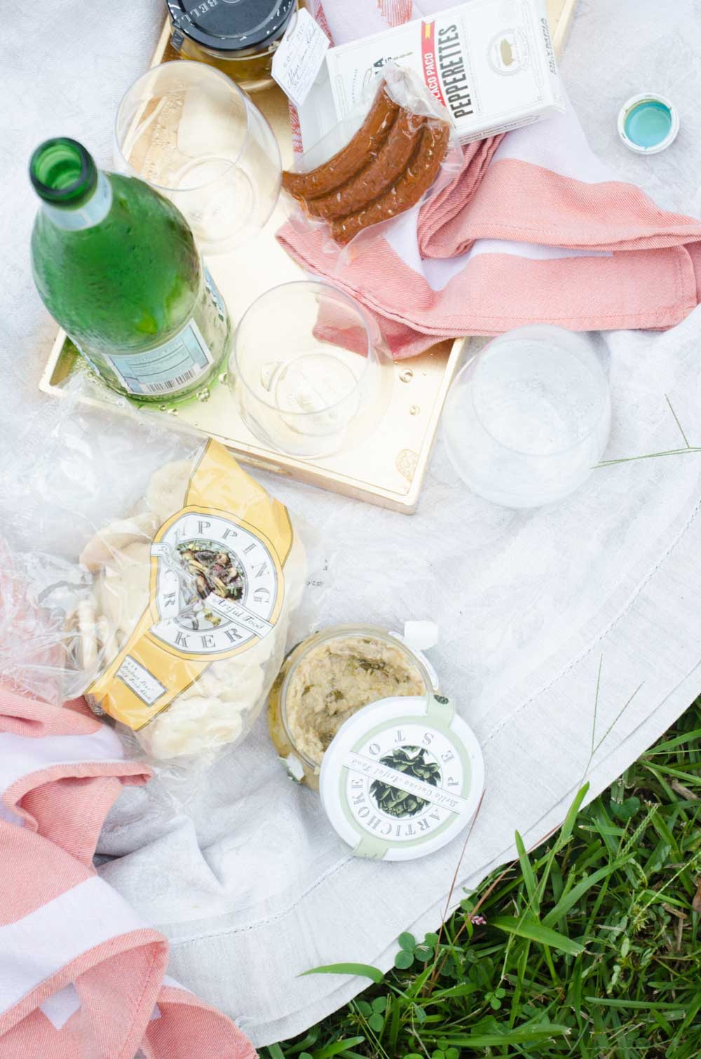 Elegant host gifts picnic essentials with Sesame