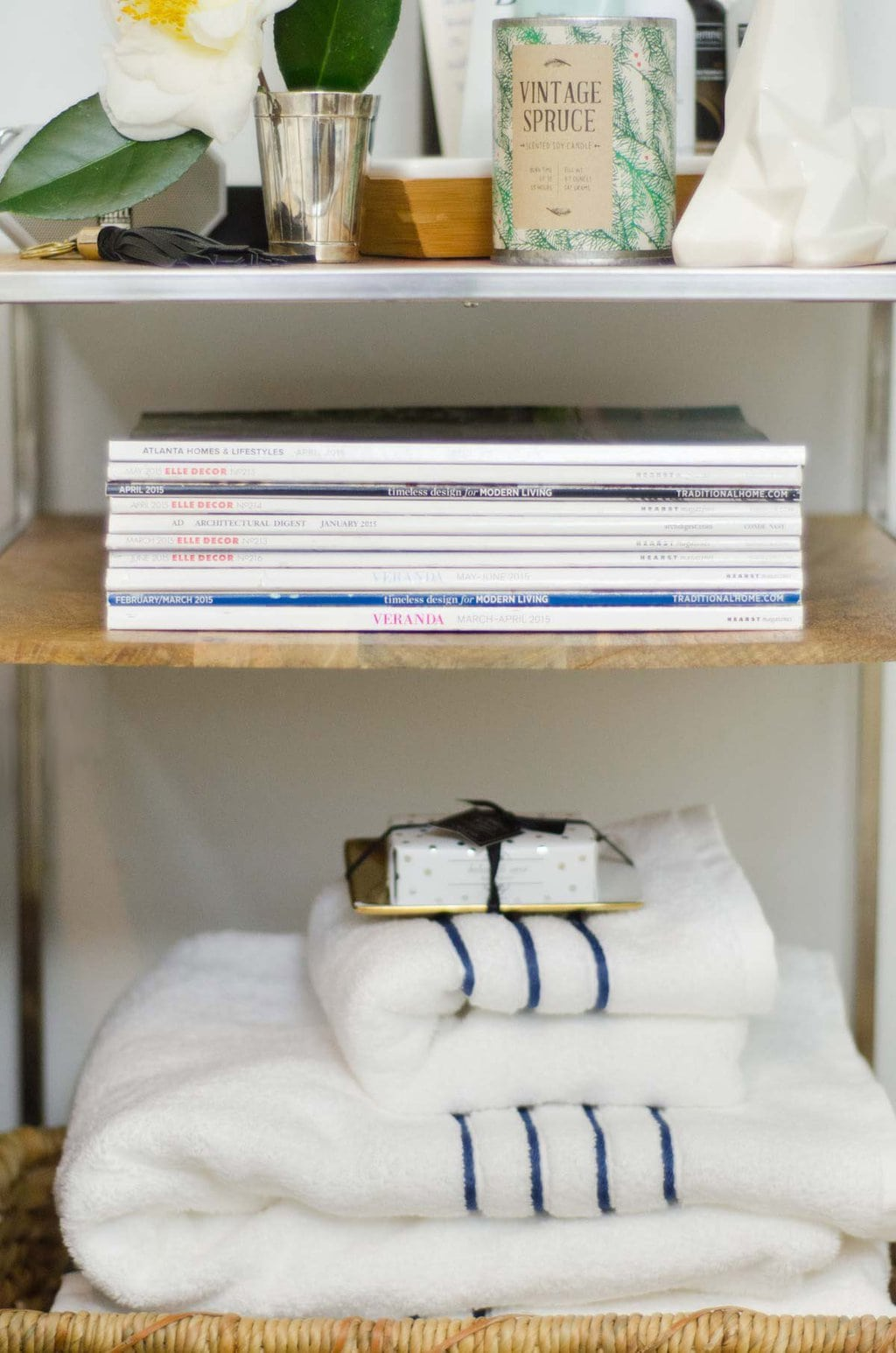 The nightstand serves as your houseguests command central.