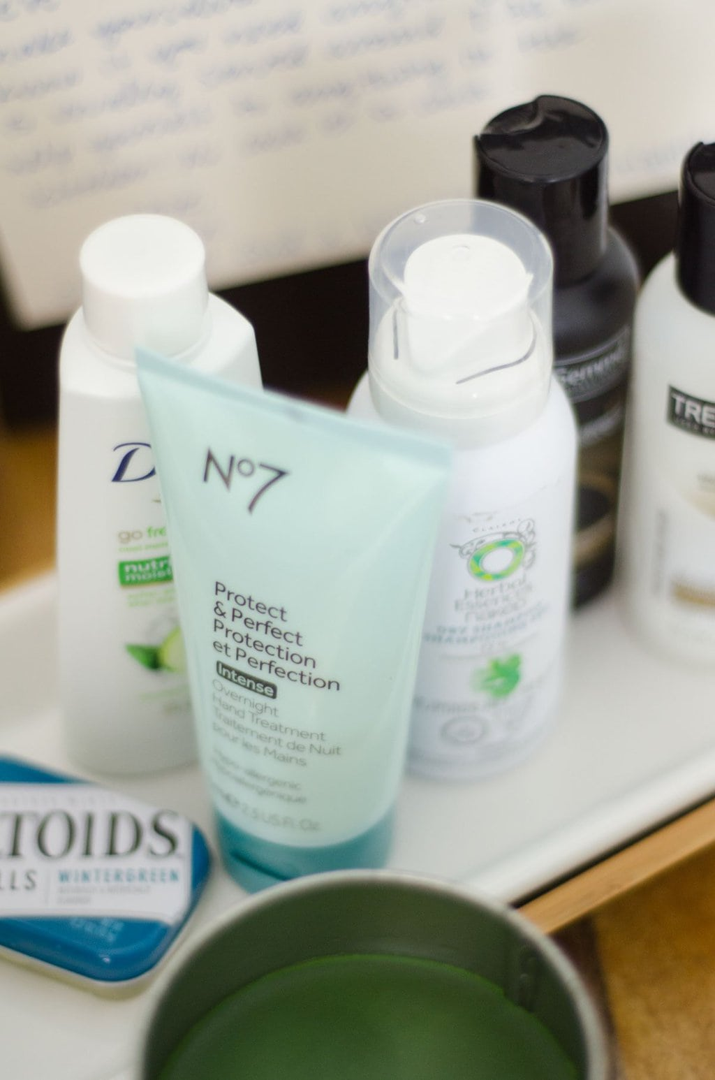 Stock up on travel-sized toiletries for holiday houseguests.