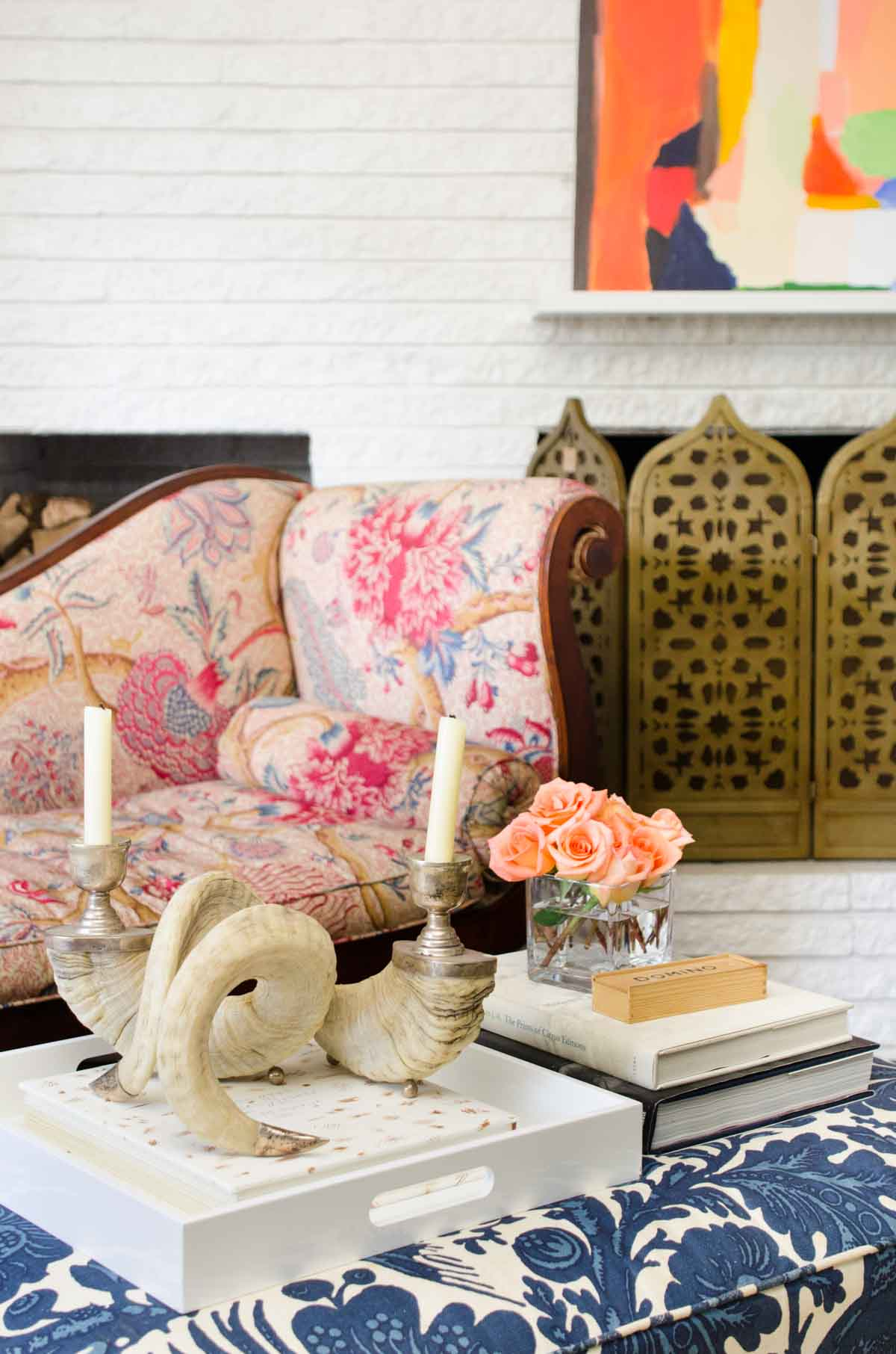 @thouswellblog's living room makeover, mixing traditional and modern design elements