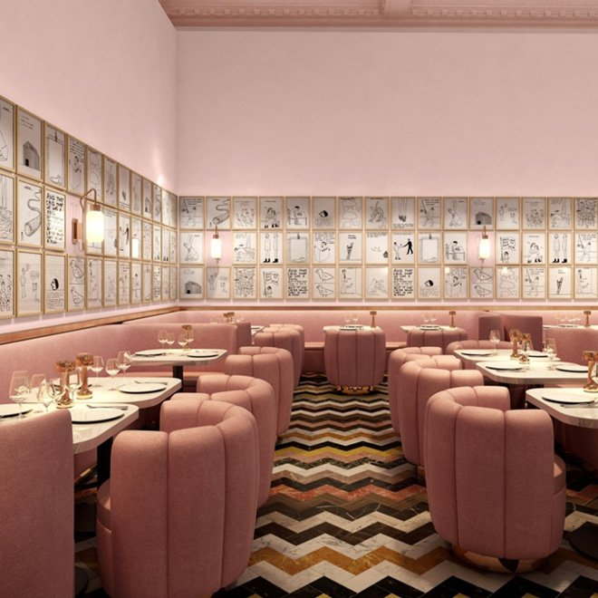 The pink Sketch restaurant in London on @thouswellblog