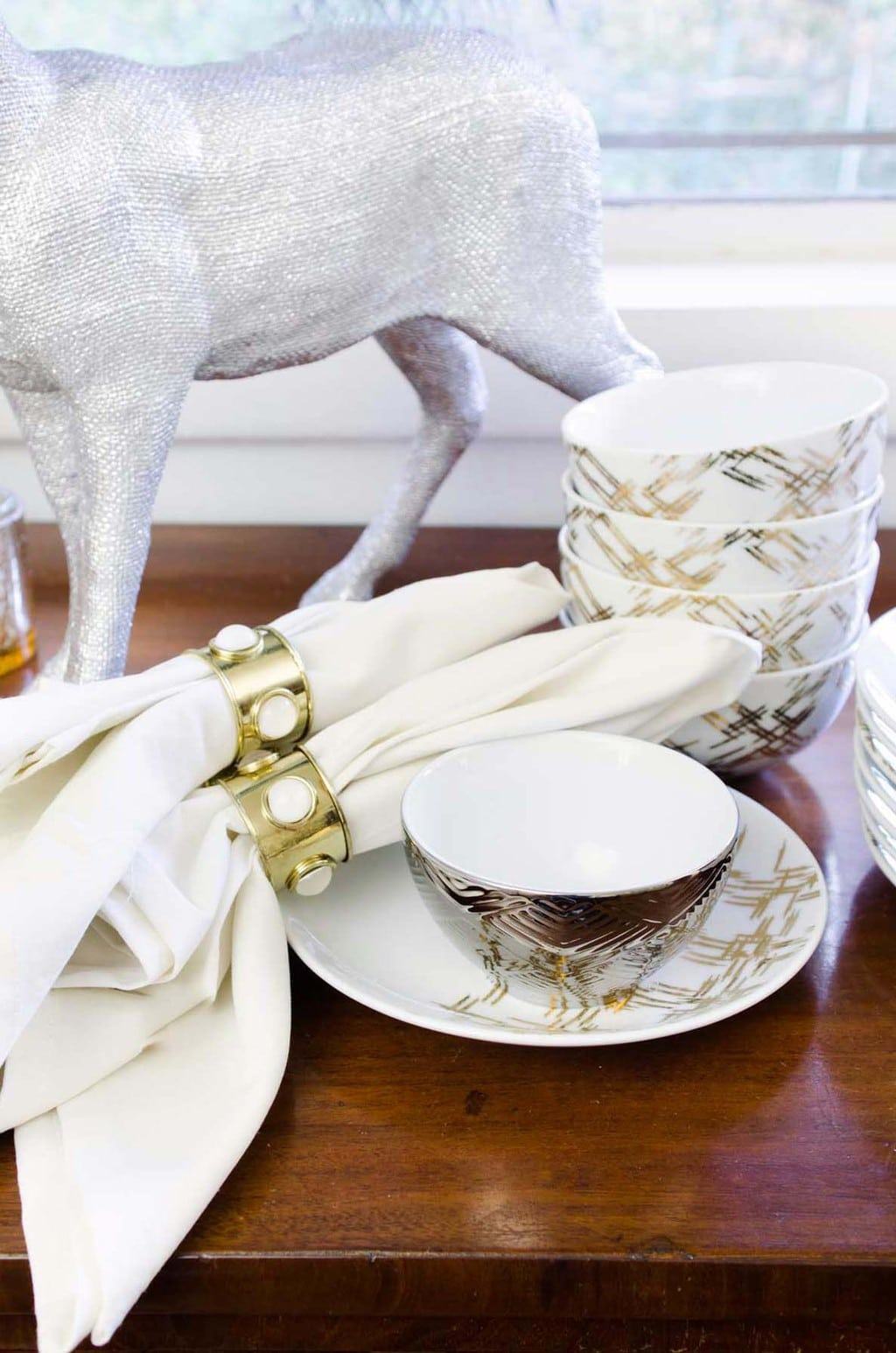 Entertaining essentials on the buffet for easy holiday entertaining