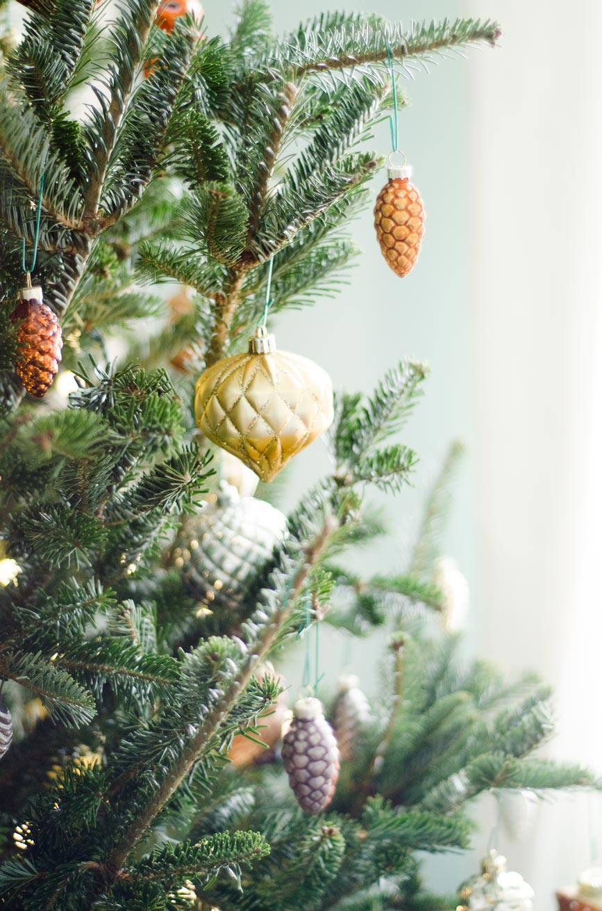 Metallic pinecone ornaments from @TargetStyle