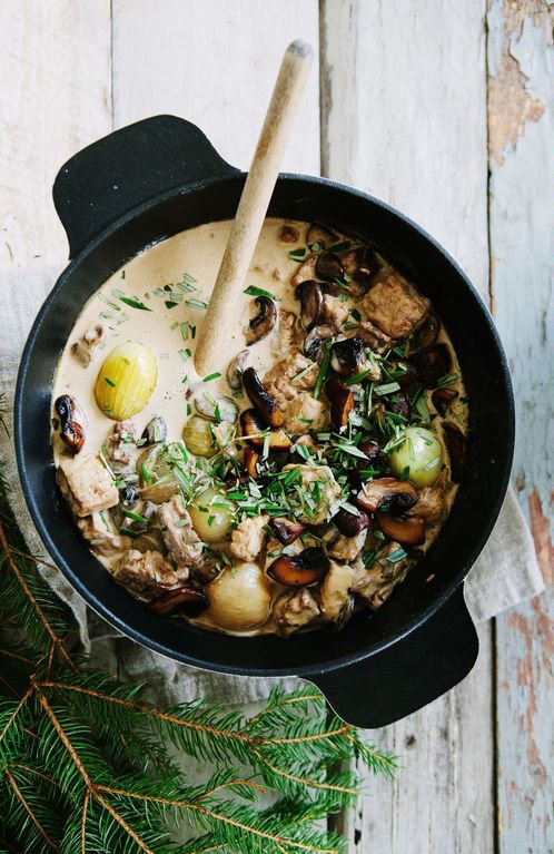 Creamy mushroom stew on @thouswellblog via Made by Mary