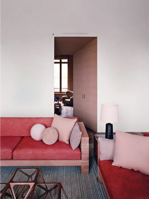Minimal pink room on @thouswellblog
