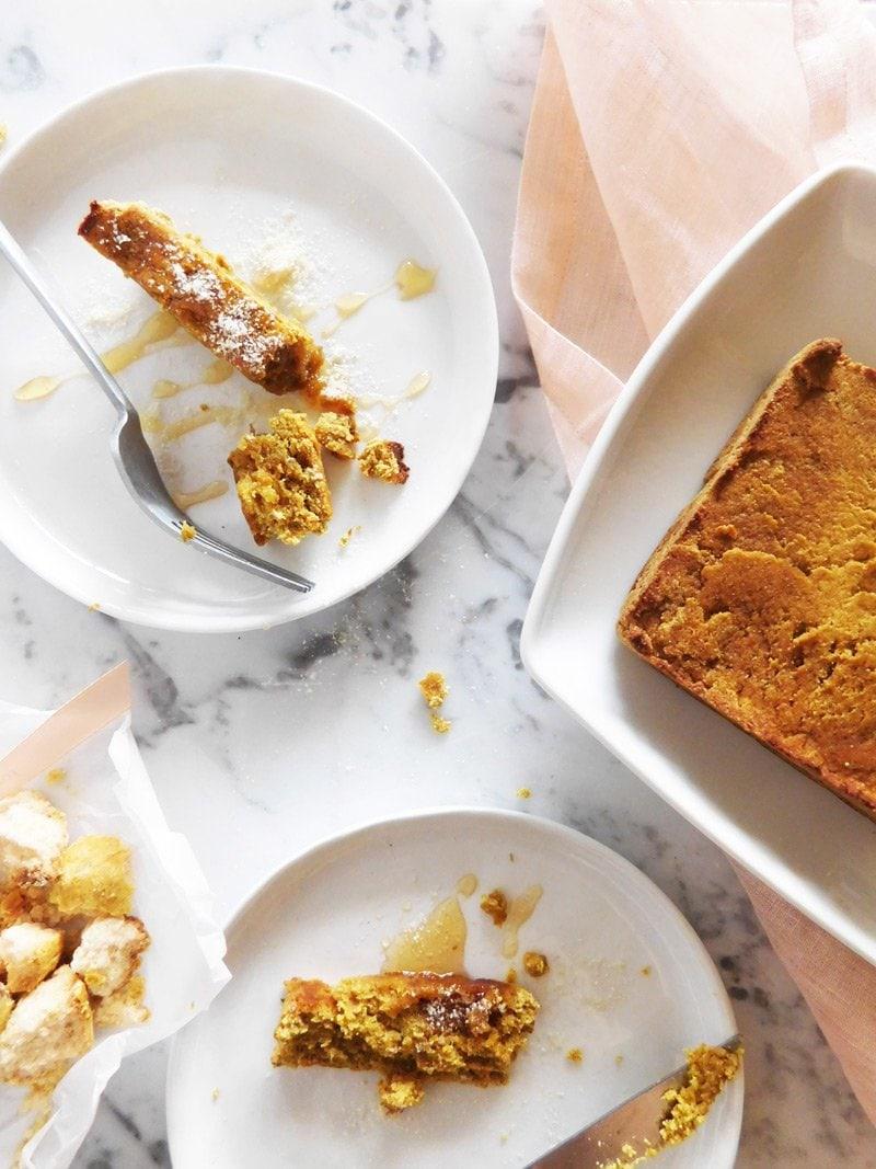 Gluten-free banana bread breakfast recipe by Almila Kakinc on @thouswellblog