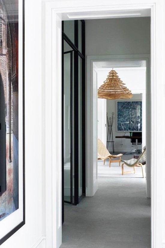 Modern hallway detail in Mallorca on @thouswellblog