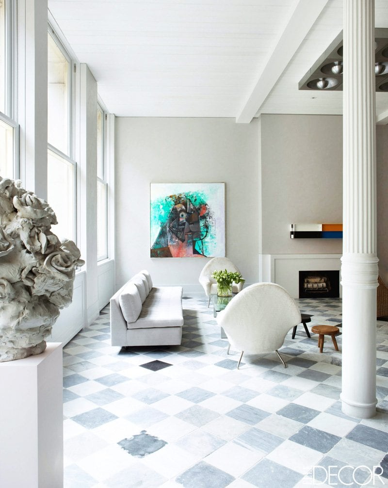 An elegant Manhattan loft living room via @thouswellblog