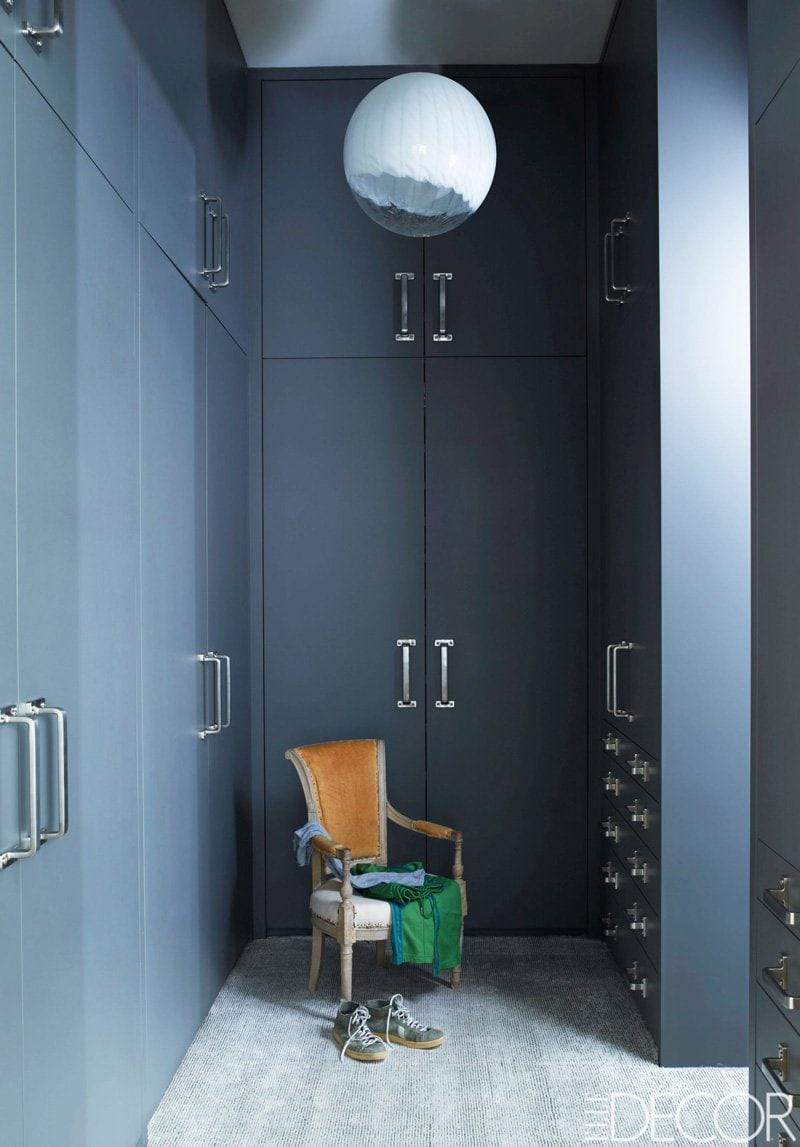 Blue closet doors via @thouswellblog