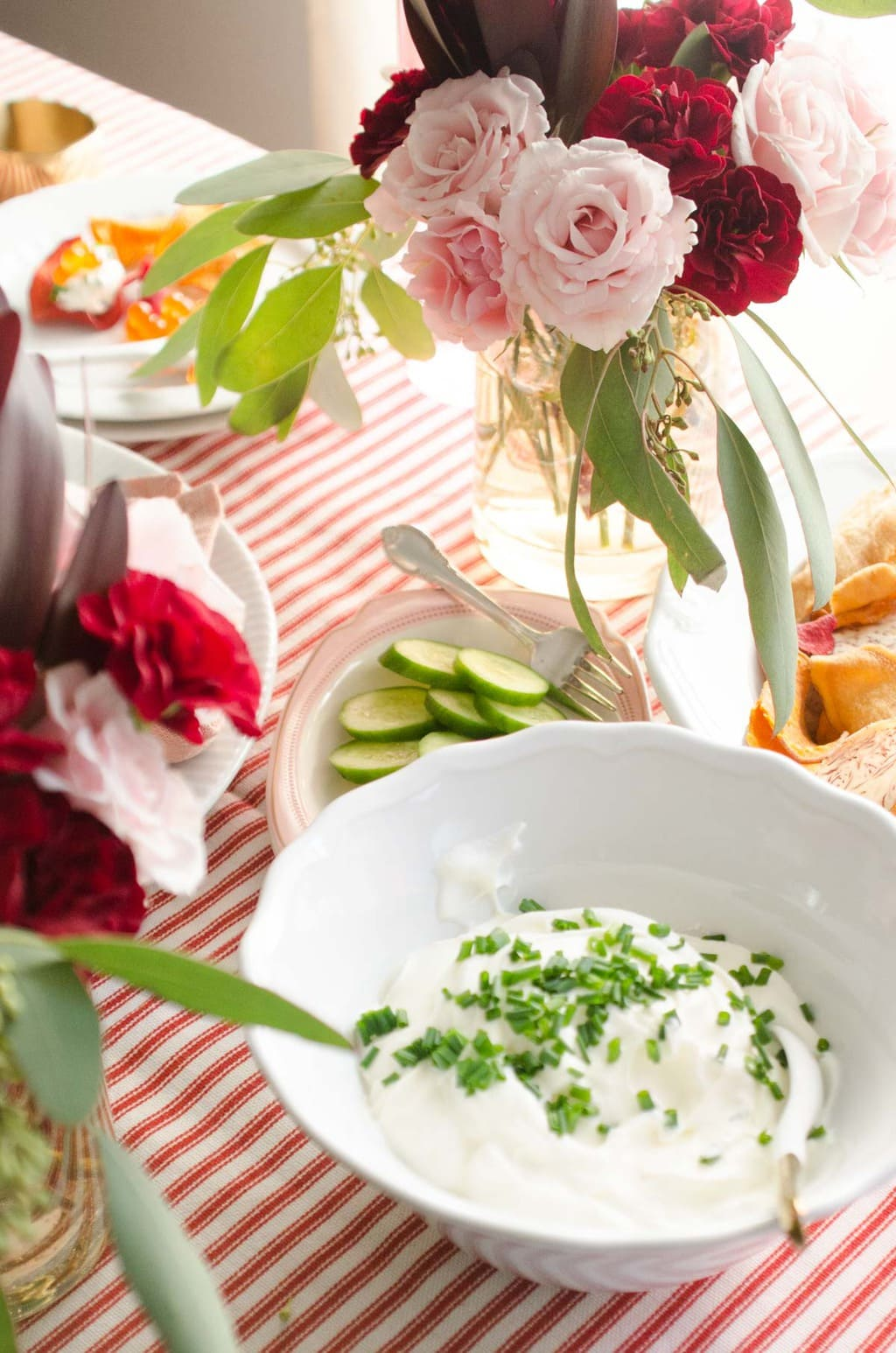 Salmon roe and creme fraîche via @thouswellblog