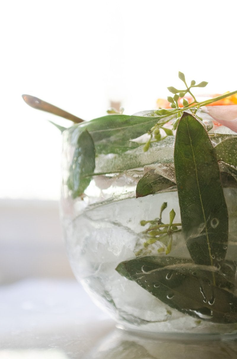 How to make a floral ice bowl via @thouswellblog