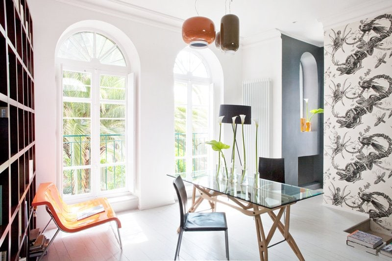 Modern dining room on the French riviera via @thouswellblog