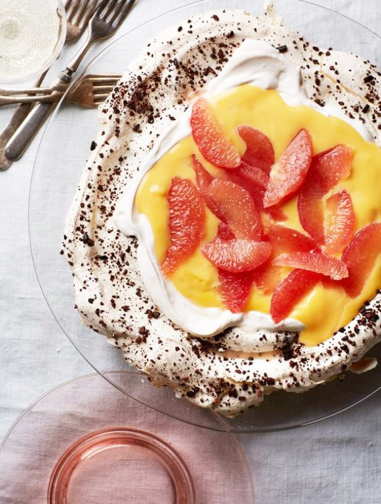 Grapefruit pavlova with cocoa nibs by Wild Apple Journal via @thouswellblog