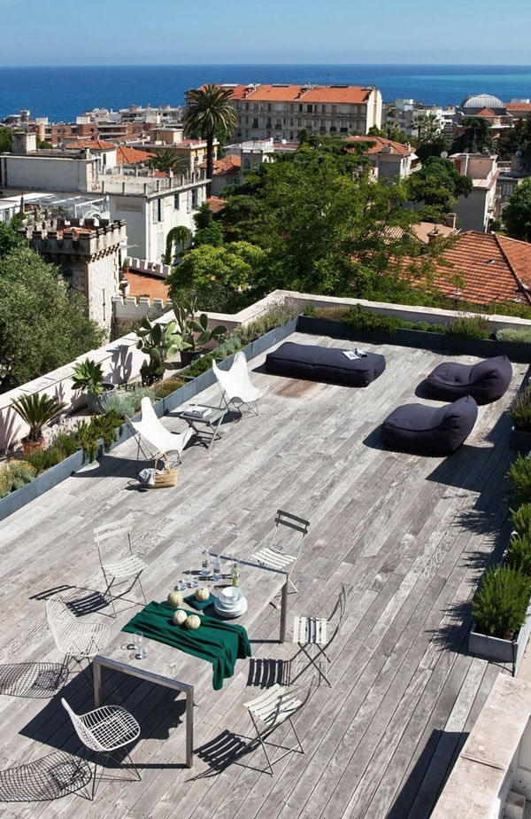 Rooftop terrace in Nice via @thouswellblog