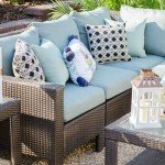 Brown outdoor wicker sectional on Thou Swell