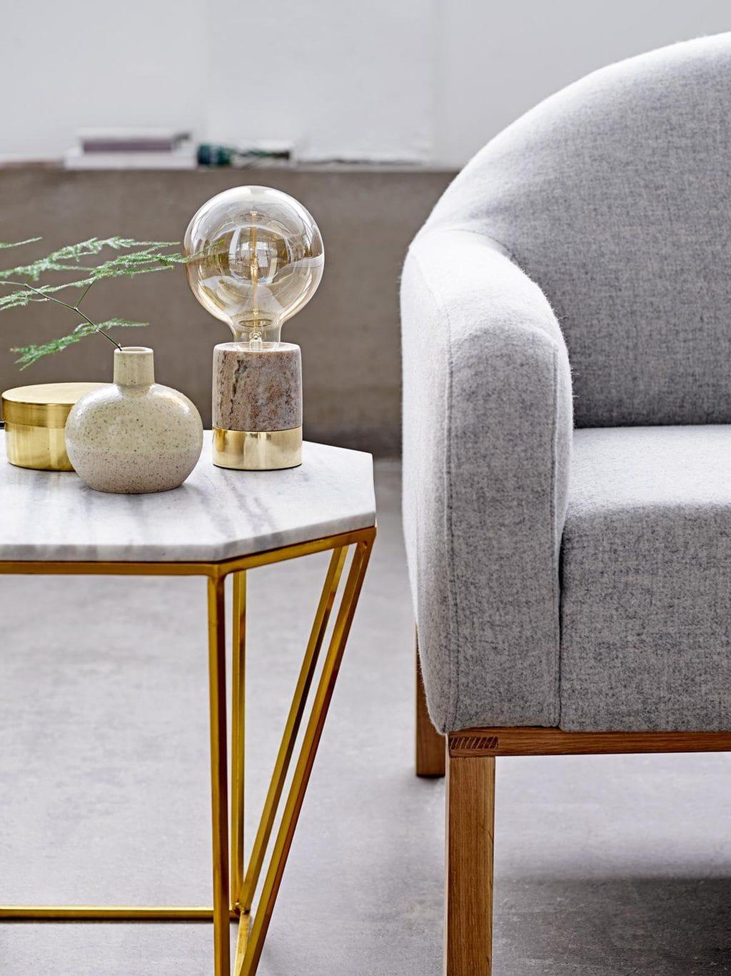 Nordic decor living room on @thouswellblog