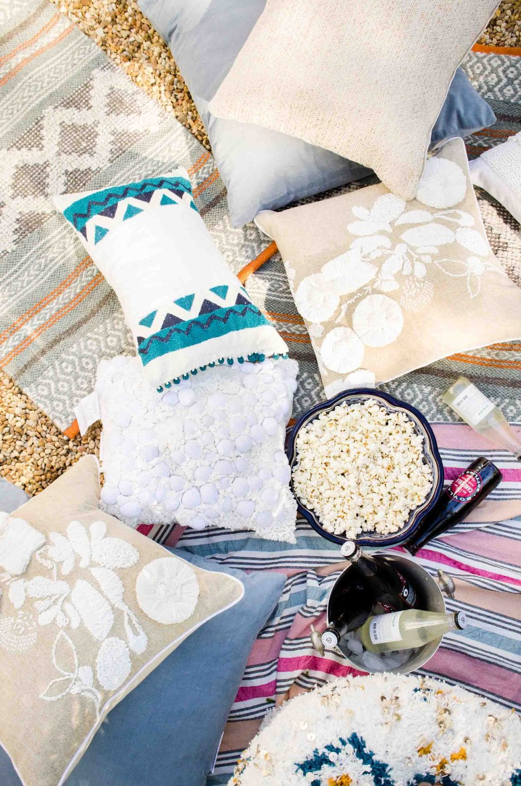 Outdoor movie party with West Elm on @thouswellblog